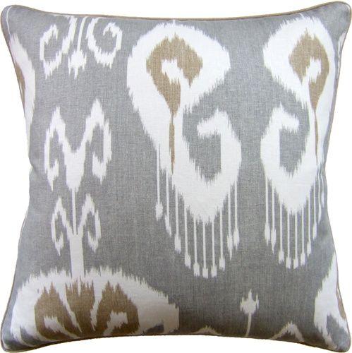 Bansuri Slate Pillow Pillows Ikat Pillows Decorative