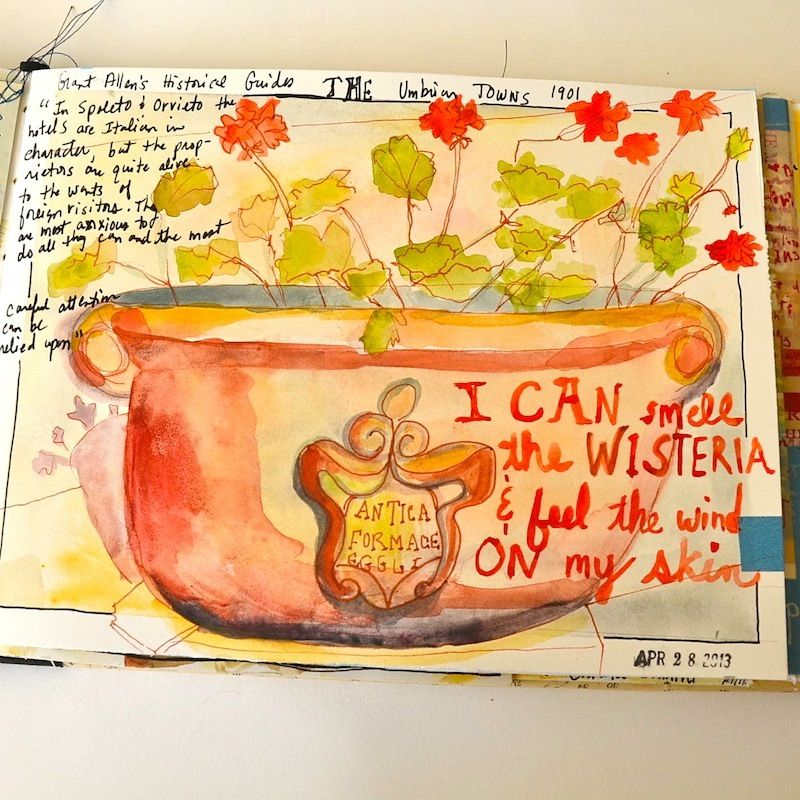 At the house art journal page #artjournaling