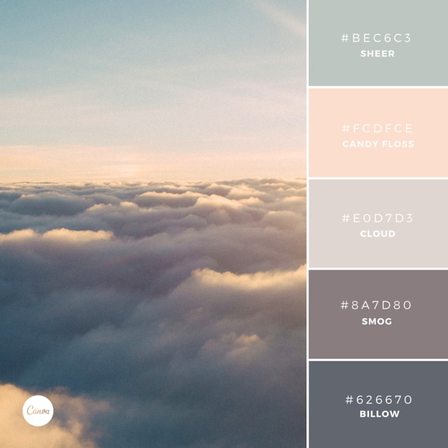 Color Combination Vanilla Skies Try This Soothing Palette In