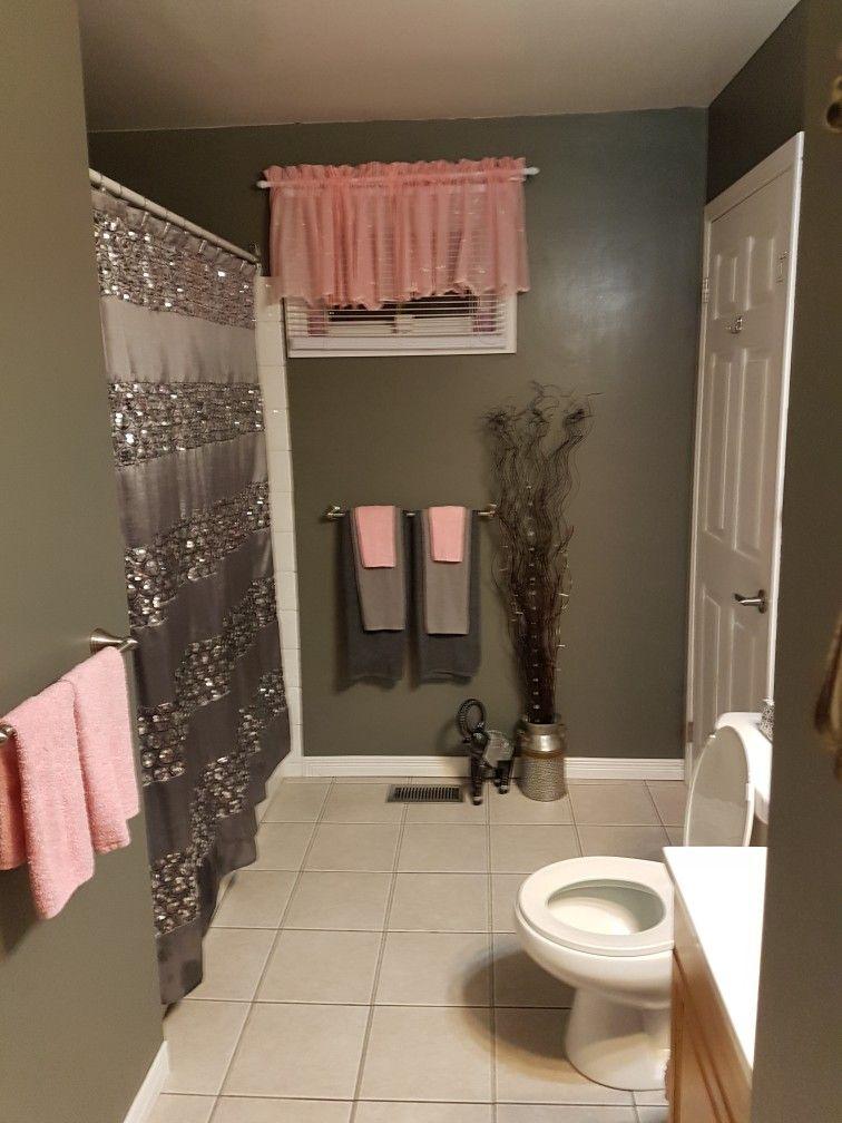 Grey And Pink Bathroom Relaxing Bathroom Decor Bathroom Decor Apartment Restroom Decor