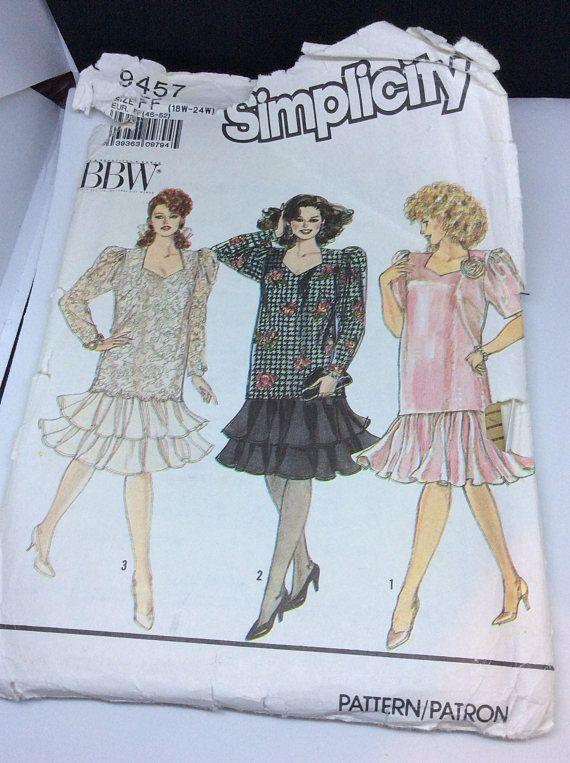 Simplicity sewing pattern dress pattern fancy dress pattern ...