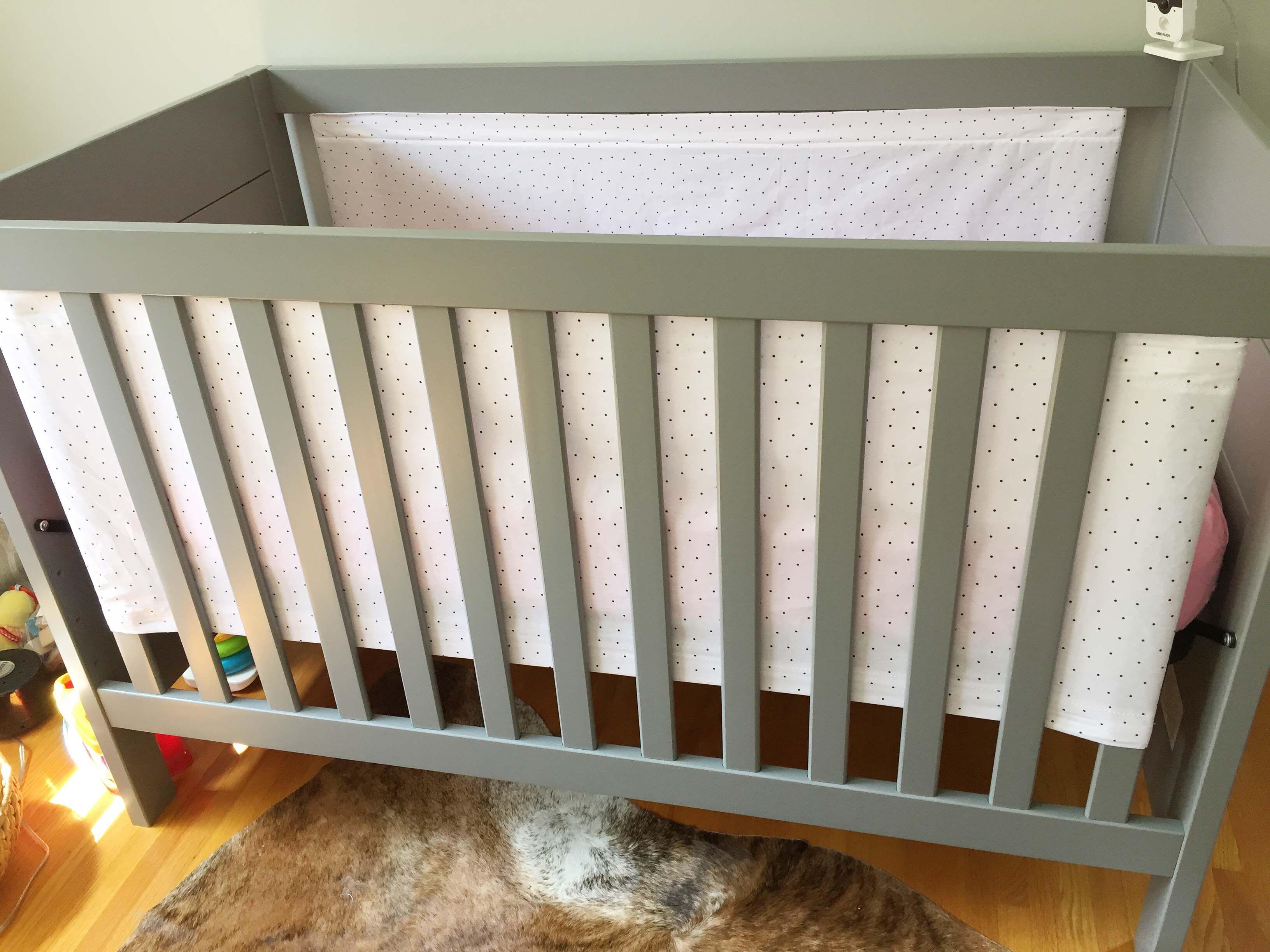 Diy Crib Liner For Solid End Cribs Diy Crib Crib Liners Cribs