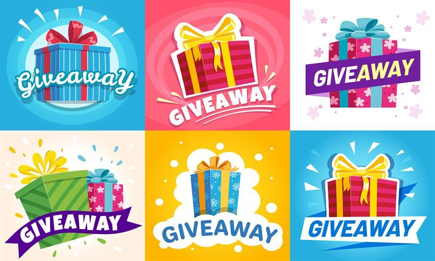 Giveaway winner poster gift offer banner giveaways post
