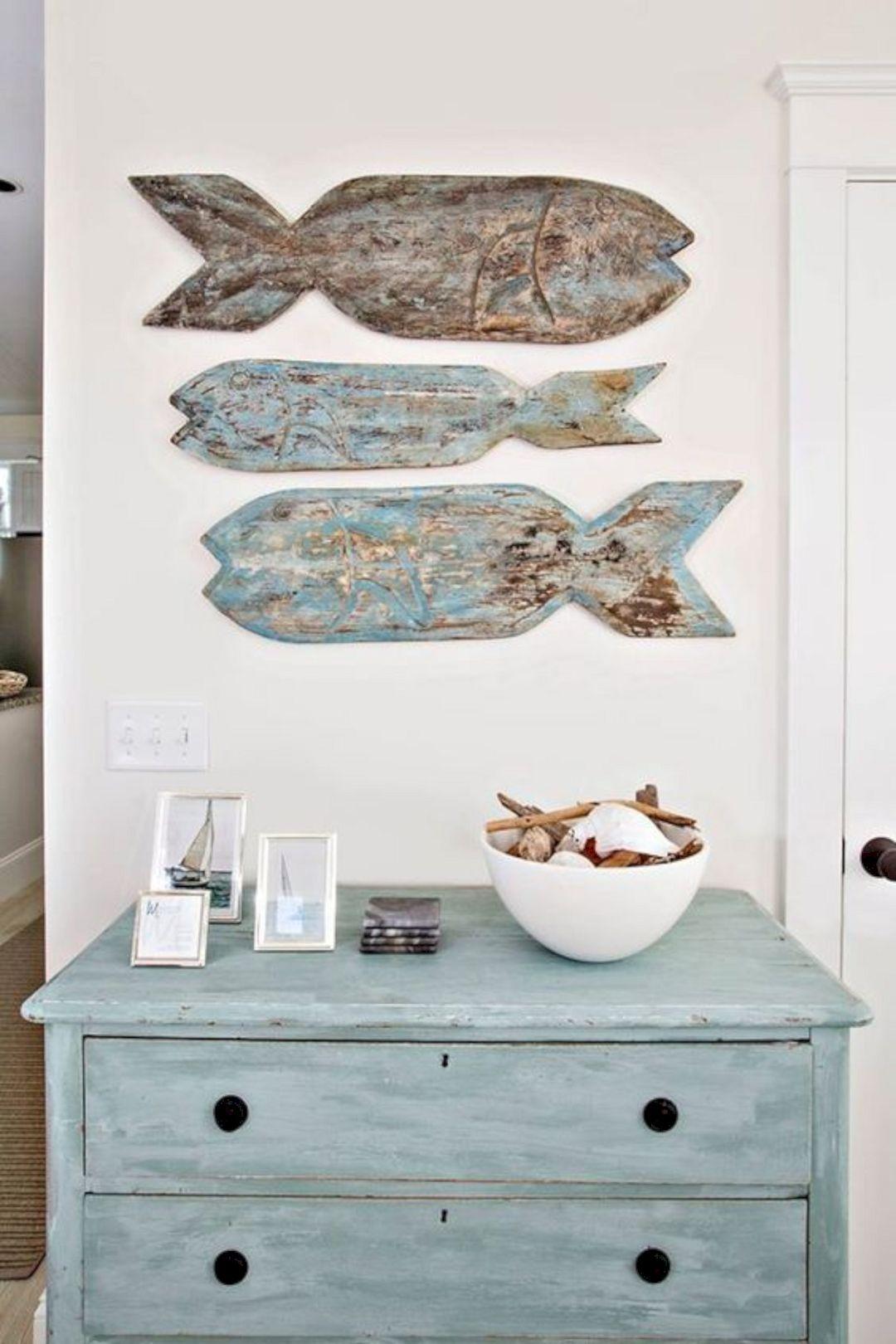 18 Beautiful Nautical Wall Decorations, Lake House Bathroom Wall Decor