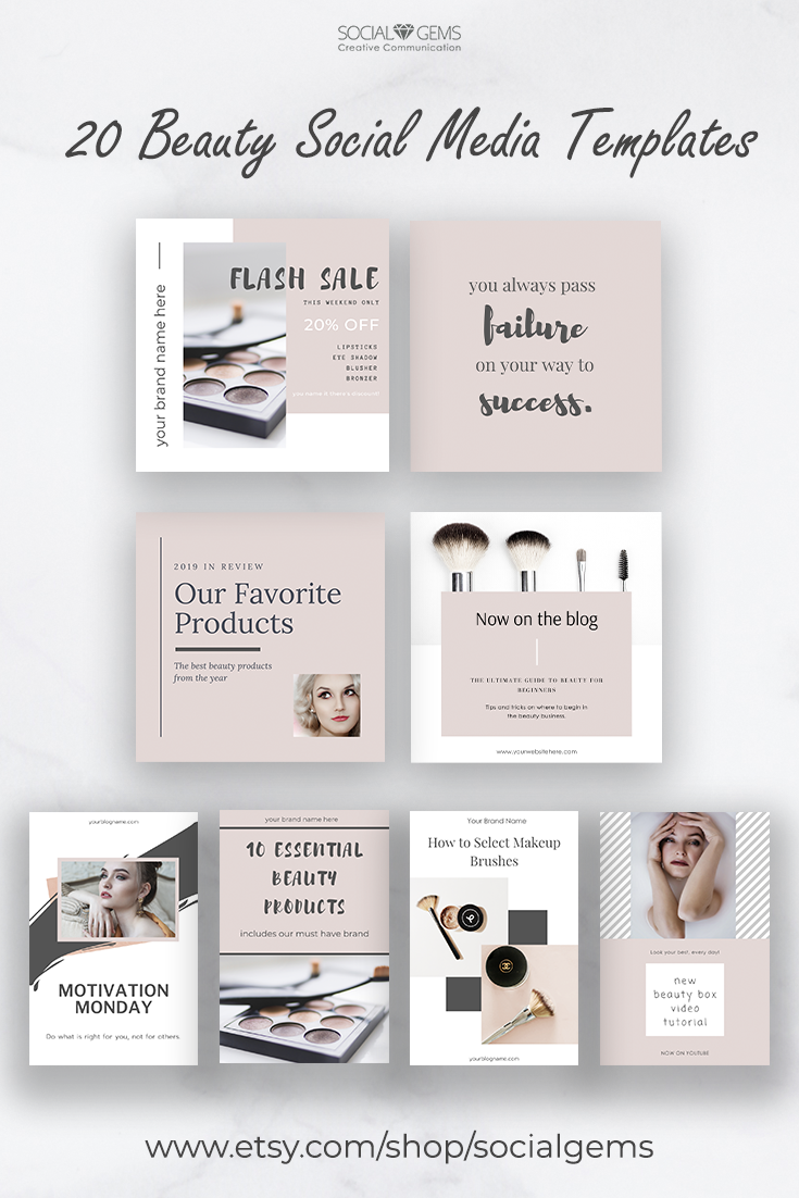 Instagram Brand Kit For Canva Social Media Content Set Etsy Social Media Design Inspiration Pinterest Templates Instagram Template