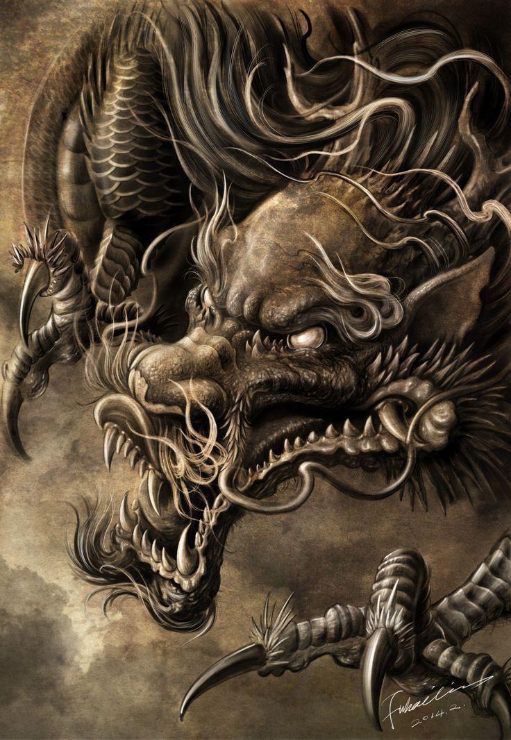 Pin By Damqn Damqnov On Dragons Dragon Artwork Japanese Dragon Tattoos Dragon Art