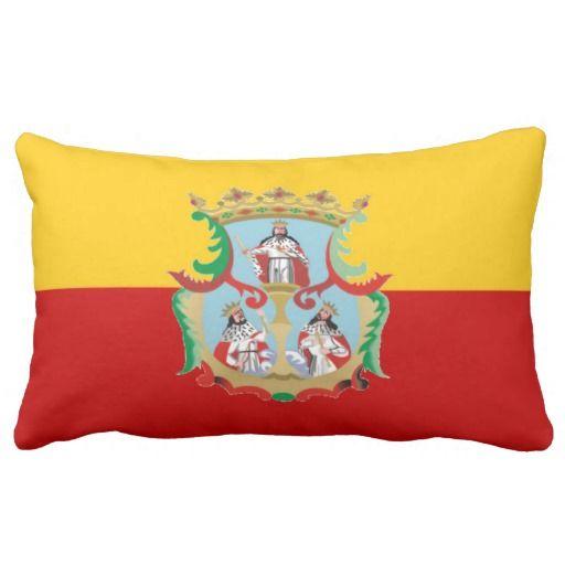 Flag Of Morella (Mexico) Pillows