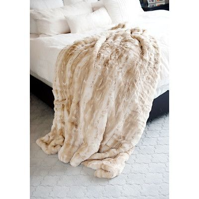 """FABULOUS-FURS Couture Throw Blanket Size: 86"""" L x 60"""" W"""