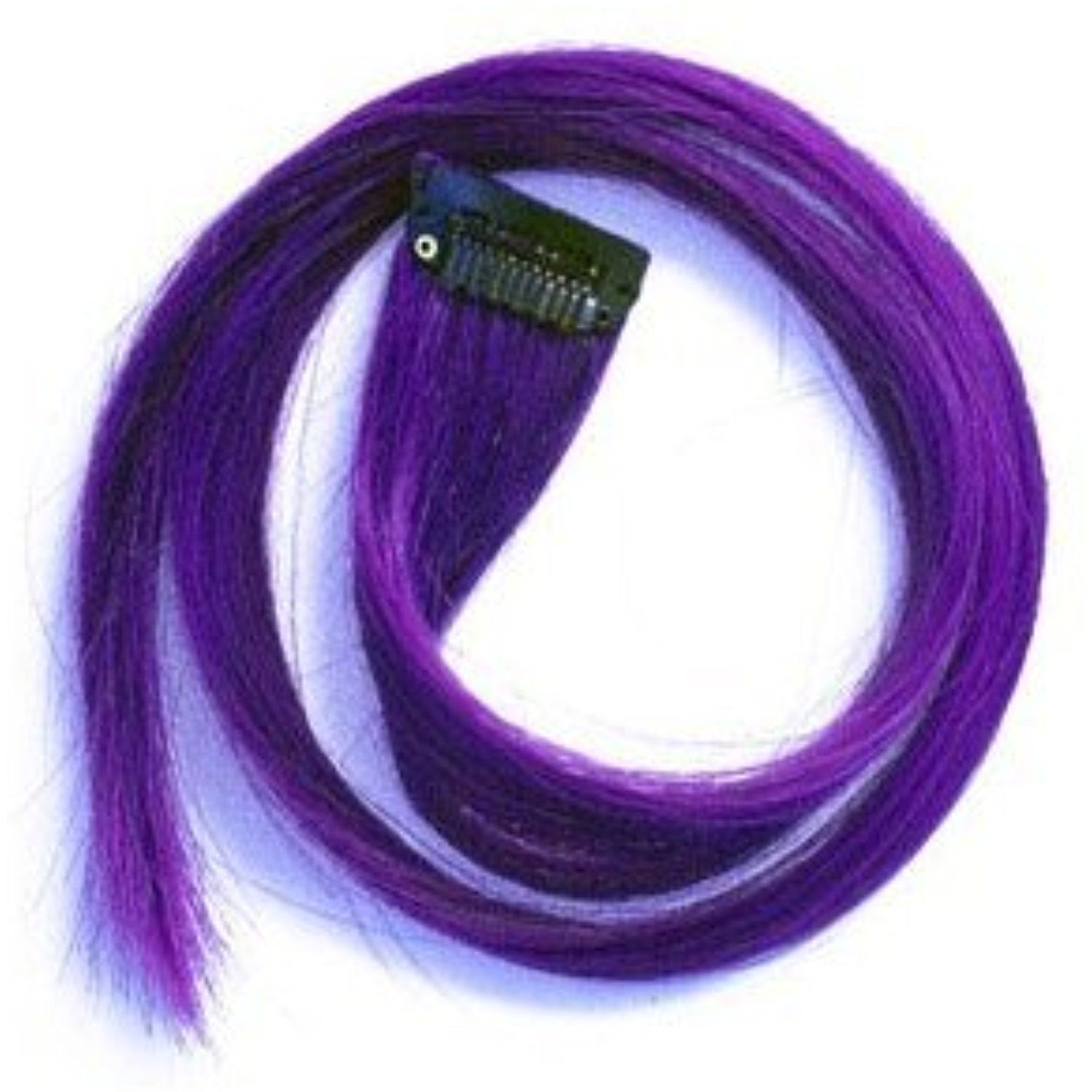 22 Clip In Straight Long Hair Extension Purple By Winstonia