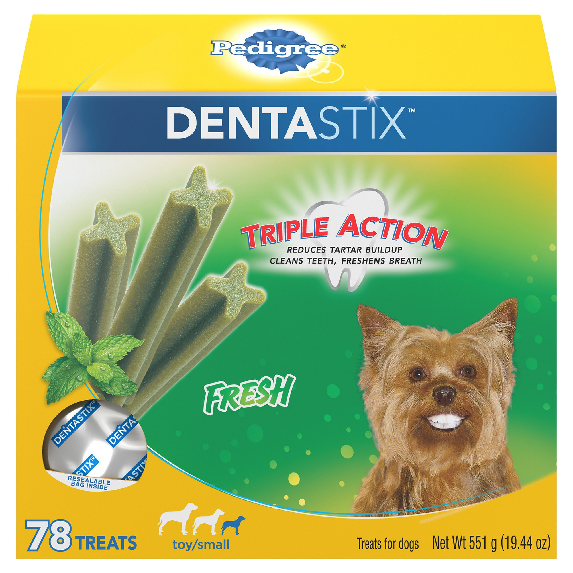 Pedigree Dentastix Fresh Adult Treats For Dogs 78ct With Images