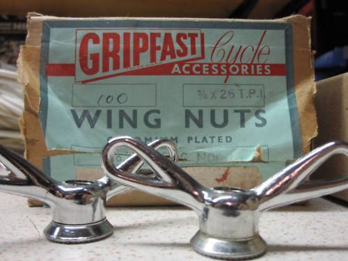 VINTAGE BIKE BICYCLE HUB WING NUTS 3//8 NOS NEW WHEEL WINGNUTS WING NUT WINGNUT