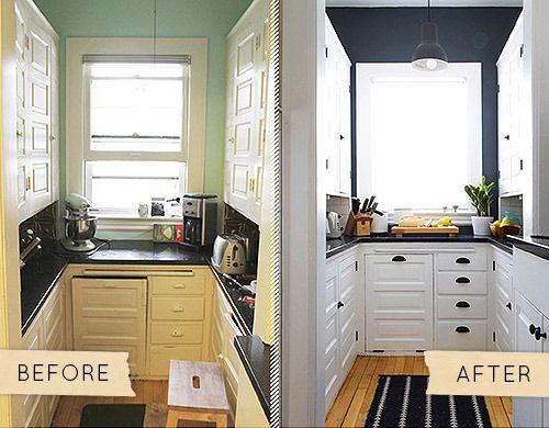 Antes despu s reforma de una cocina con pintura for Quiero ver cocinas modernas