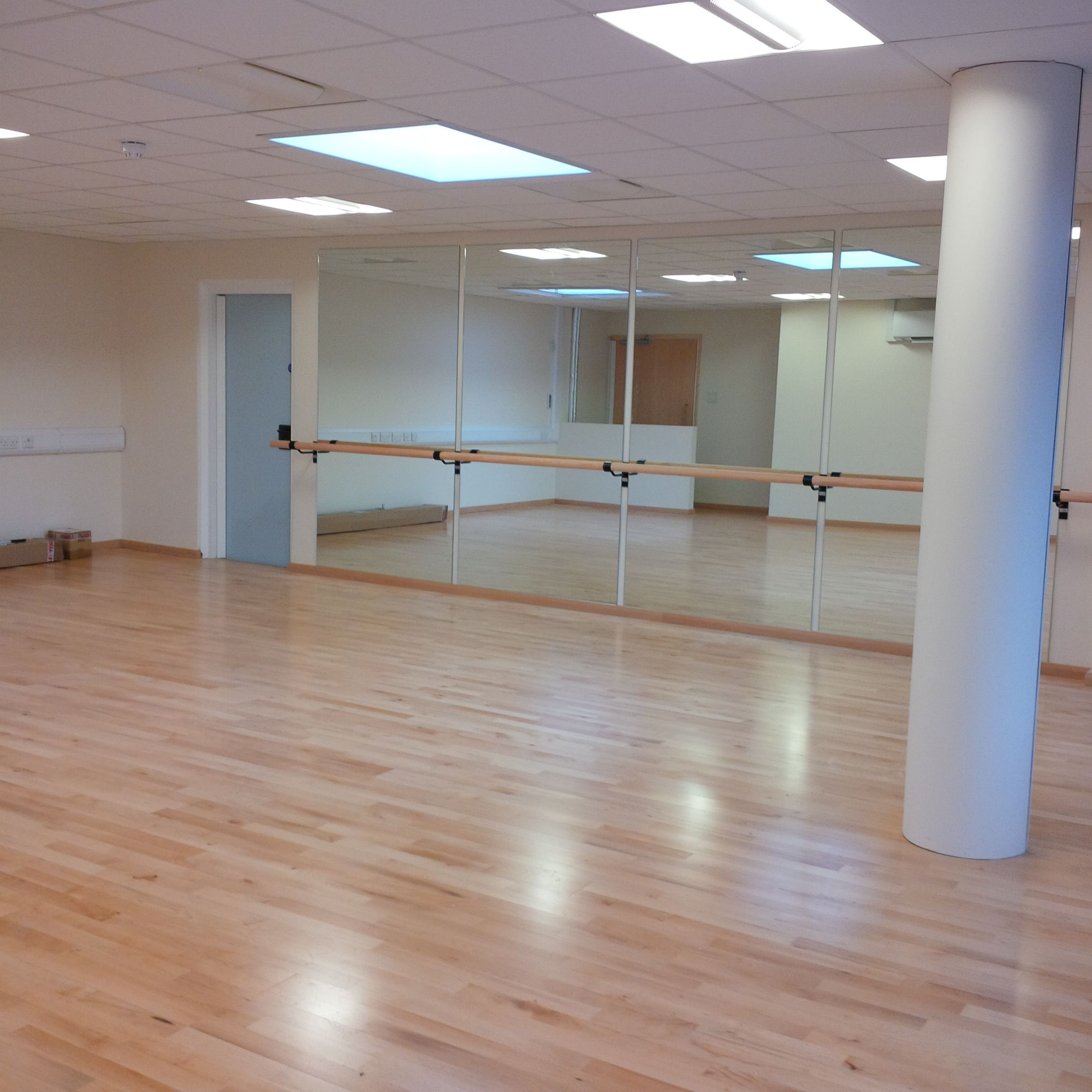 Installation Of Our Optimax Studio Mirrors Endura Ballet Barres Www Theballetbarrecompany Com Home Dance Studio Home Dance Dance Studio