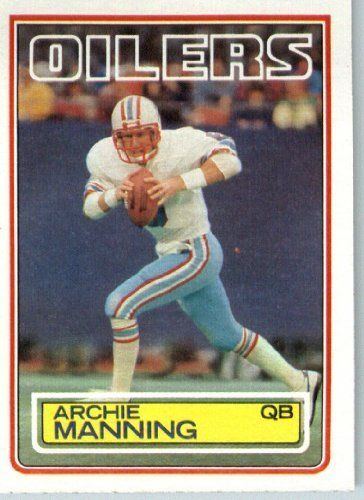 1983 Topps   278 Archie Manning Houston Oilers Football Card - Shipped In… 9773cd298