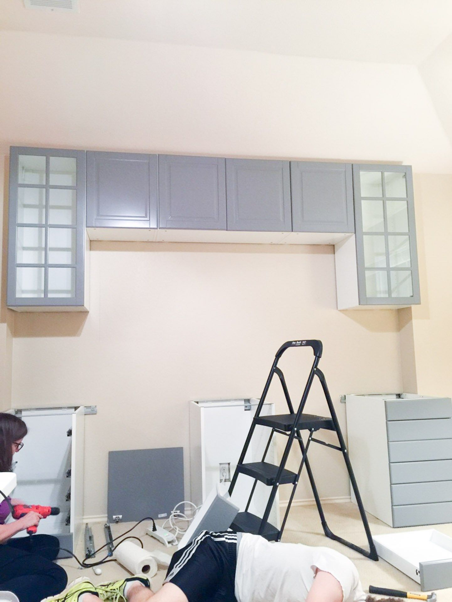 How To Make A Desk From Kitchen Cabinets Part One Diy Without Fear In 2020 Diy Bedroom Storage Ikea Cabinets Installing Cabinets