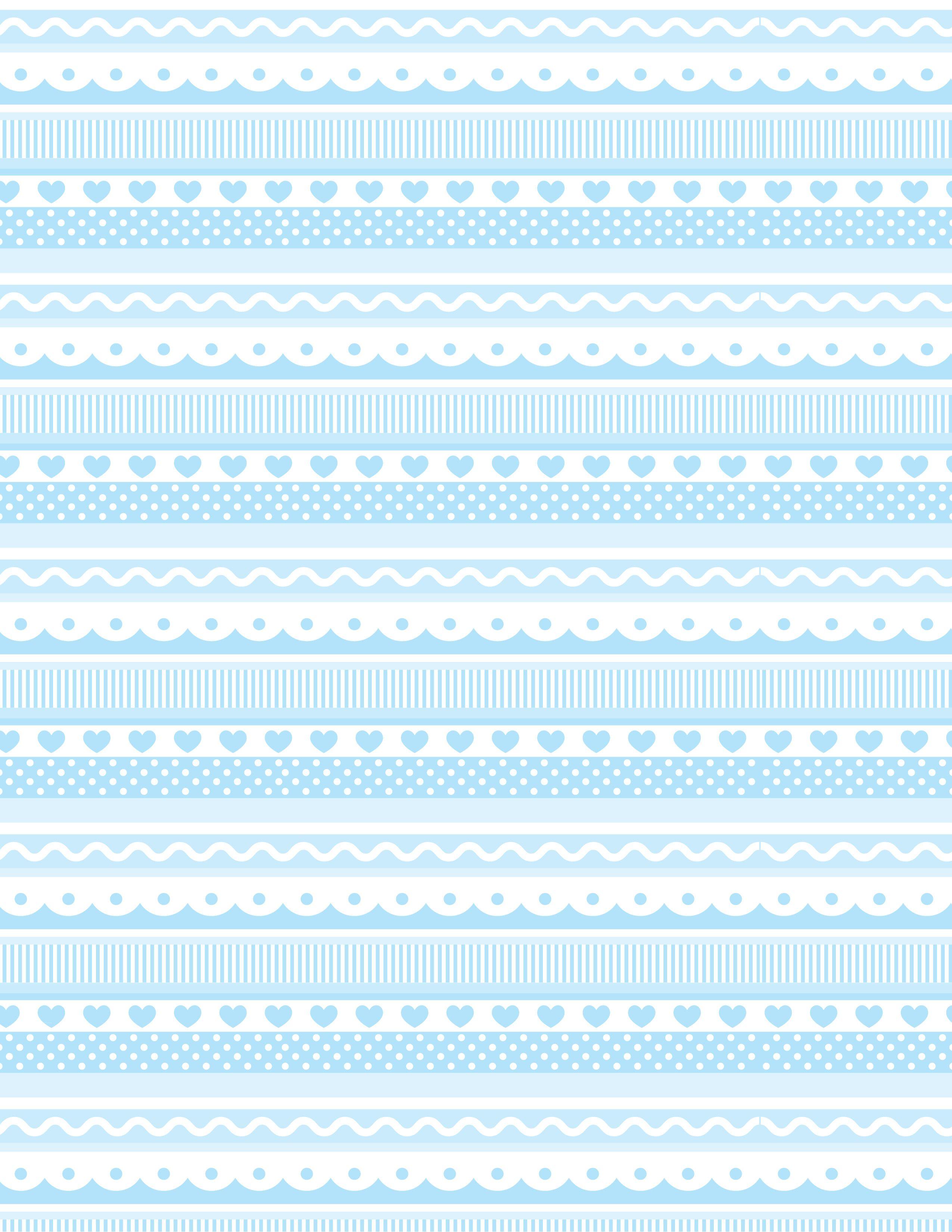 Cenefas en azul jpg 2550 3300 pinteres - Cenefas decorativas para imprimir ...