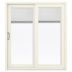 Jeld Wen V 4500 71 5 In Blinds Between The Glass French Vanilla Vinyl Sliding Patio Door With Screen Lowoljw1 Vinyl Patio Doors Sliding Patio Doors Patio Doors