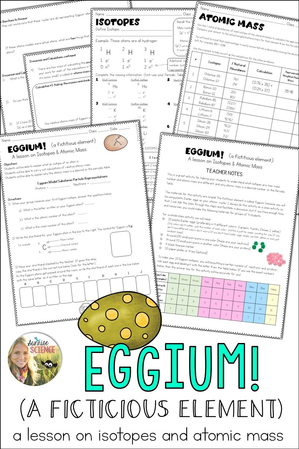 Isotopes and atomic mass activity eggium plastic easter eggs this is an easy prep memorable lesson on isotopes and why atomic mass is urtaz Choice Image