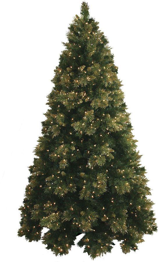 MOUNTAIN KING 4.5' Pre-Lit Glitter-Tipped Golden Pine Christmas Tree - MOUNTAIN KING 4.5' Pre-Lit Glitter-Tipped Golden Pine Christmas Tree