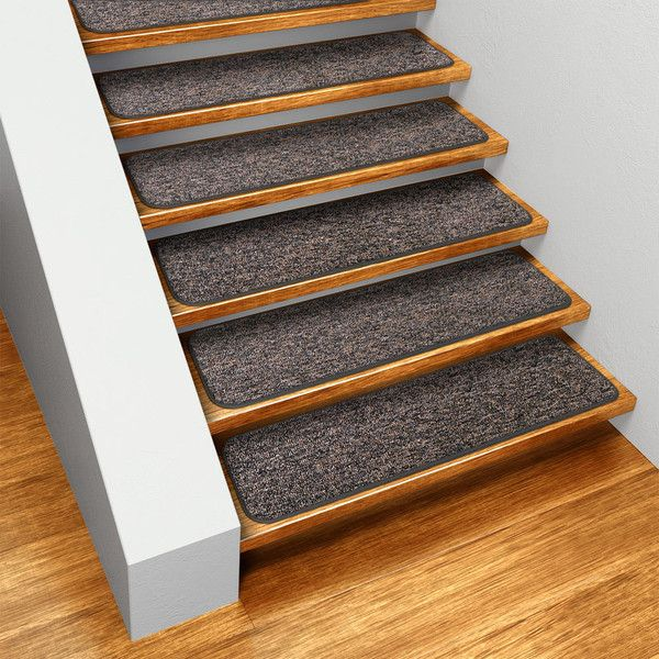 Best Set Of 12 Skid Resistant Carpet Stair Treads Pebble Gray 400 x 300