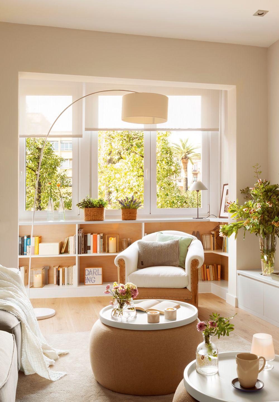 Muebles e ideas para aprovechar las ventanas salones for Muebles de salon pequenos