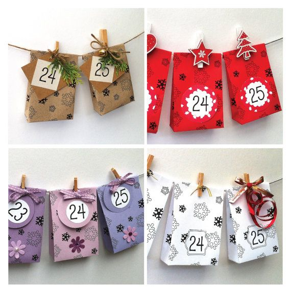 Advent Calendar Template  Create Your Own Beautiful Mini Gift Bag