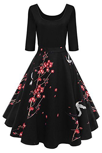 Damen Audrey Hepburn 50s Retro Vintage Bubble Skirt Rockabilly Swing ...