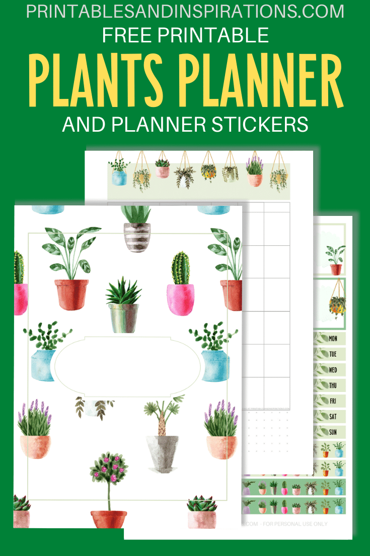 House Plants Planner Template Free Printable Printables And Inspirations Planner Printables Free Templates Printable Free Free Planner Stickers