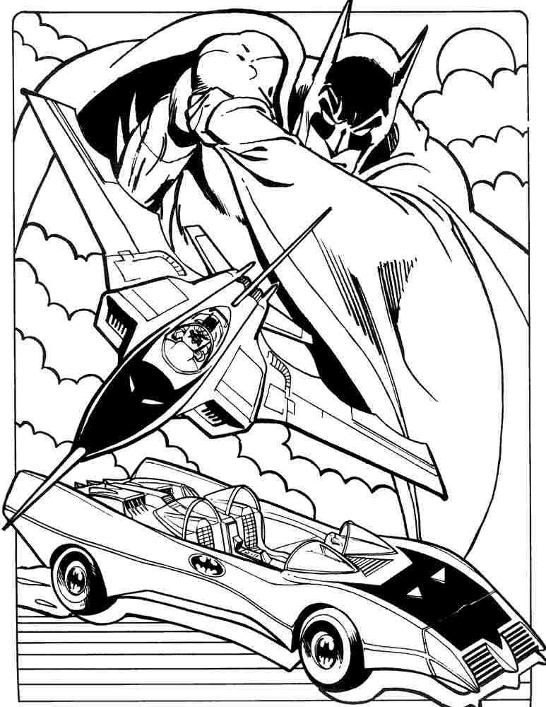 Batmobile Coloring Pages superherobatmanbatmobile