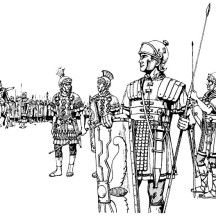 An Ancient Rome Army in the Battlefield Coloring Page