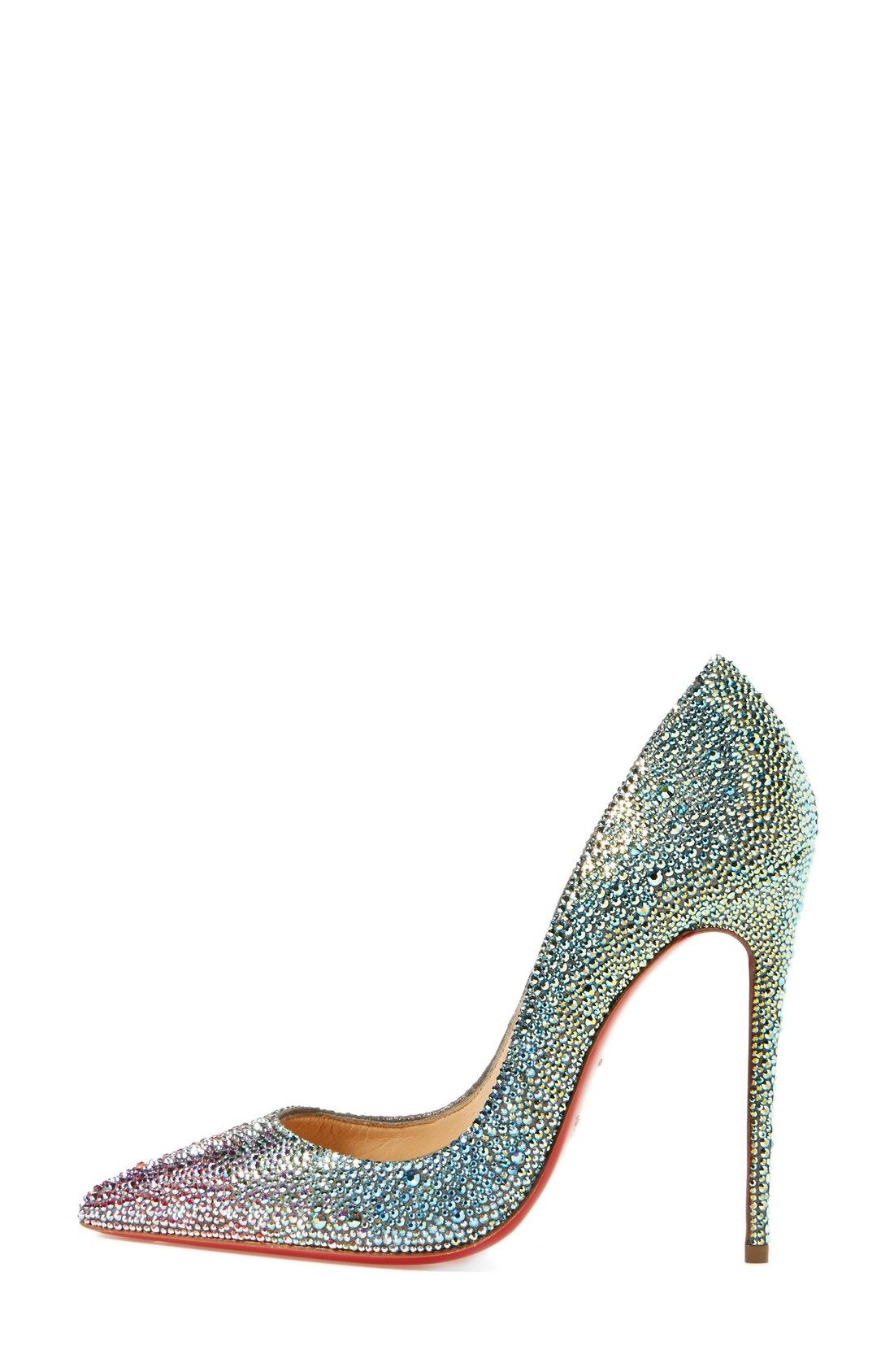 864890e2213eb Love how glittery these Christian Louboutin 'So Kate' pumps are ...