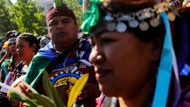 Con incidentes terminó marcha por la resistencia Mapuche - Chilevision