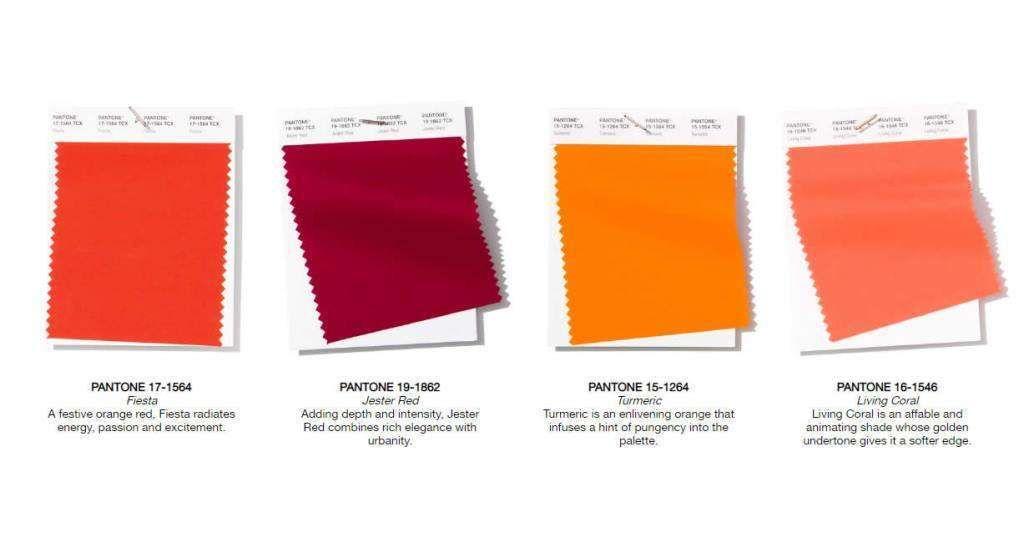 Colori Primavera,Estate 2019 secondo Pantone , Sfumature di rosso Pantone