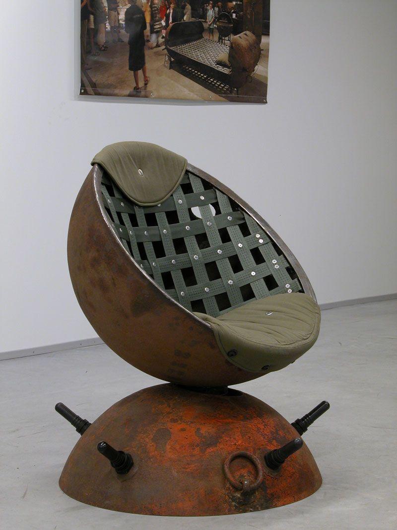 Delightful Unique Furniture Design Ideas Recycling Old Naval Mines Into Decorative  Items Inu2026 Design