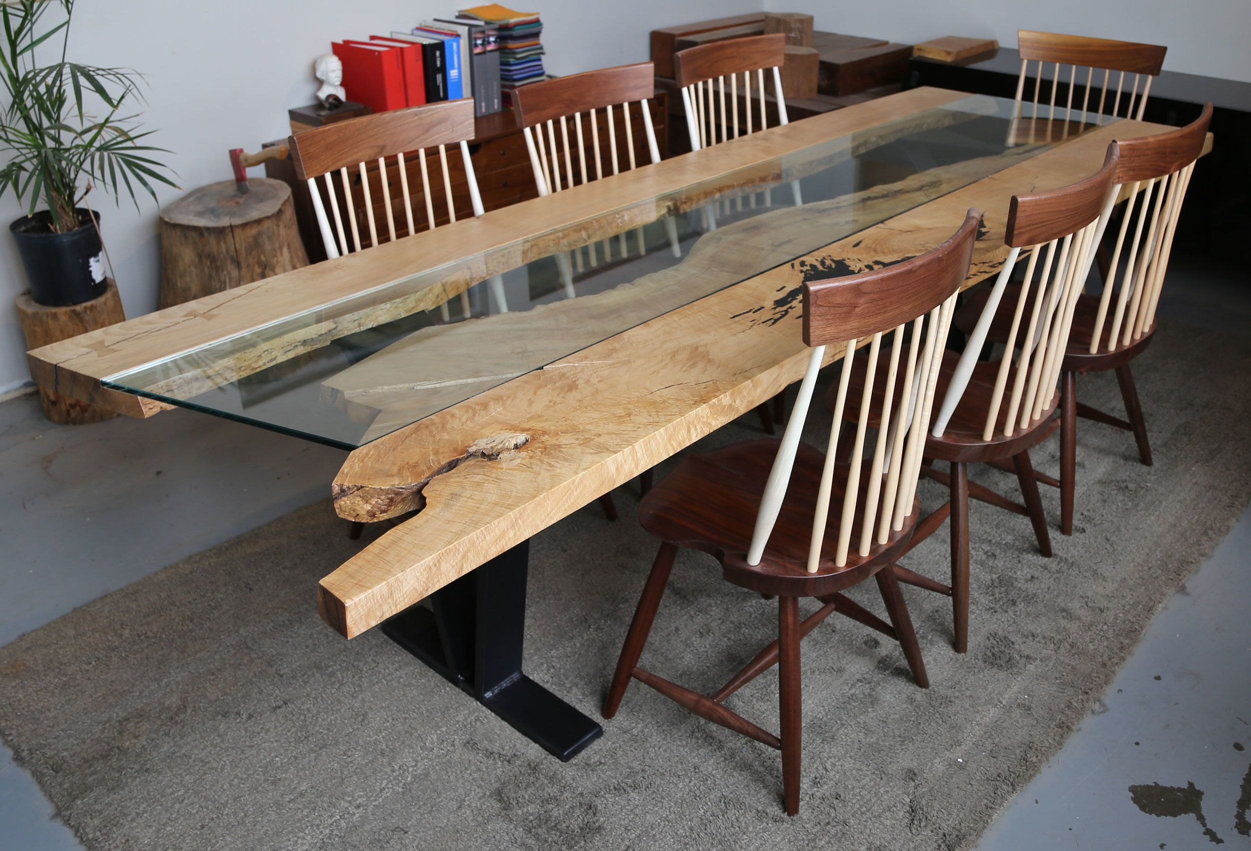 Colorado Live Edge Dining Table 114 Curved Sectional Dining Table