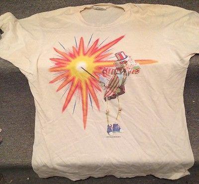 a101dcdb32de Grateful Dead Tee Shirt VINTAGE 1987 FALL TOUR GDM Screen Stars XL 88 Cycle  Sam