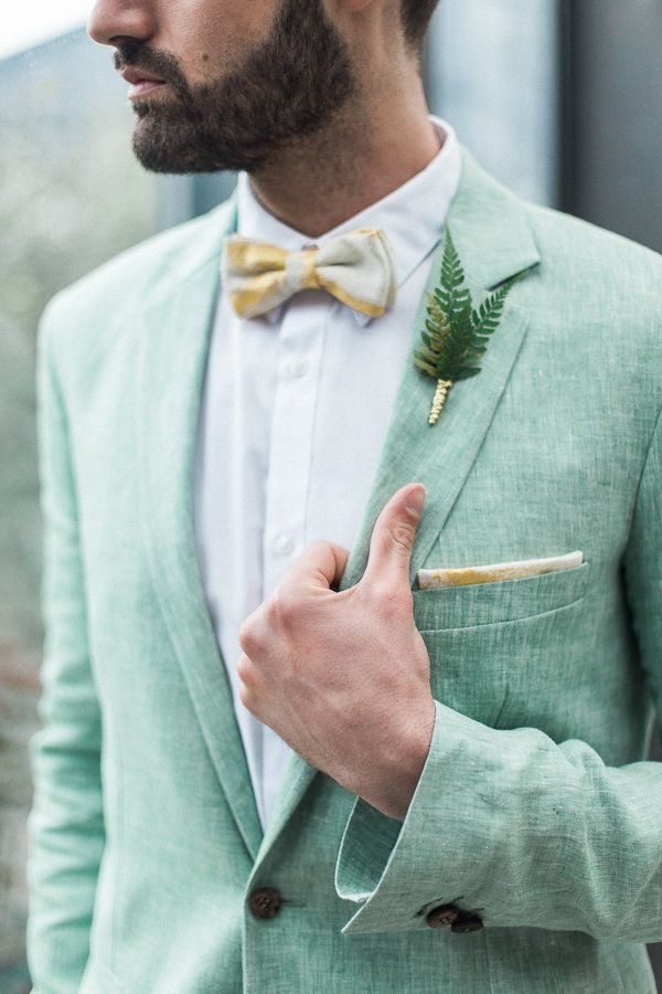 Linnèo Archivable Clothing green linen groom suit | Wedding ...