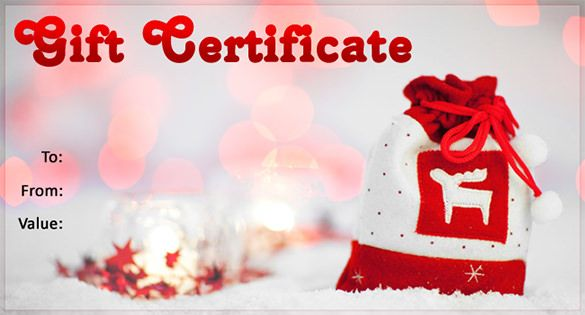 Holiday Gift Certificate Template Free Download Forteforic