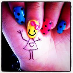 happy girl. #nails
