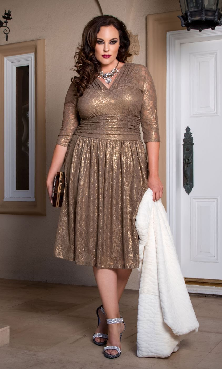 af75b5ee108 Shimmer and shine in our Limited Edition Metallic Maven Lace Dress! Like  our Swinging Symphony Dress