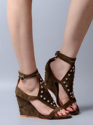 Bohemia Grass Weaving Soft Sole Super High Wedge