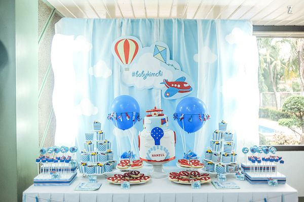 A Superb Sky Celebration Boy Party 1st Birthday Parties Party