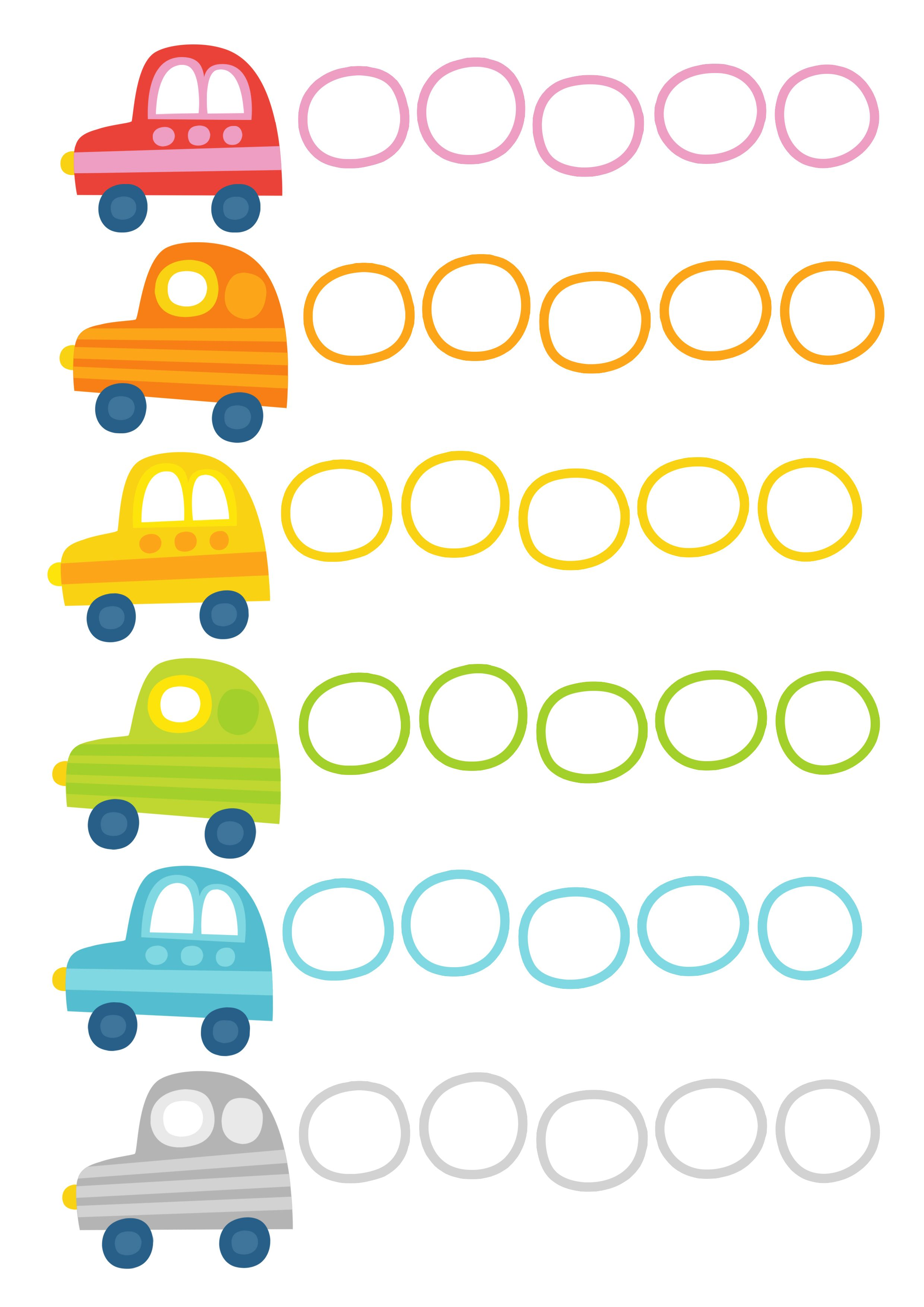 Pikku Kakkosen tulostettava autopuuha | lasten | askartelu | kesä| käsityöt | koti | värittäminen | free printable pattern | counting cars | DIY ideas | kid crafts | summer | home | colouring | Pikku Kakkonen