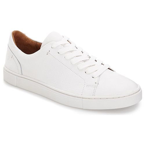 Comfy With These Trendy White Sneakers