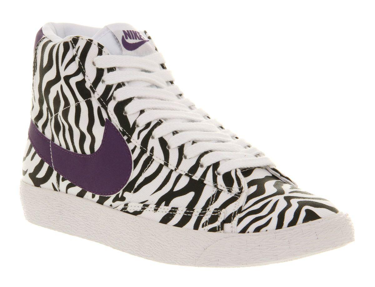 zebra nike blazers