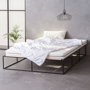 140x200 Ion Bett Schwarz Steel Bed Design Minimalist Bed Furniture