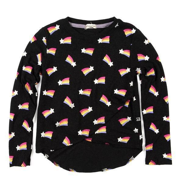 3c4a5c15 Perfect for ANTHILL kids this 'Penelope' Tee in Black from American  kidswear brand Appaman. This Appaman long sleeve shirt with a fun rainbow  shooting star ...