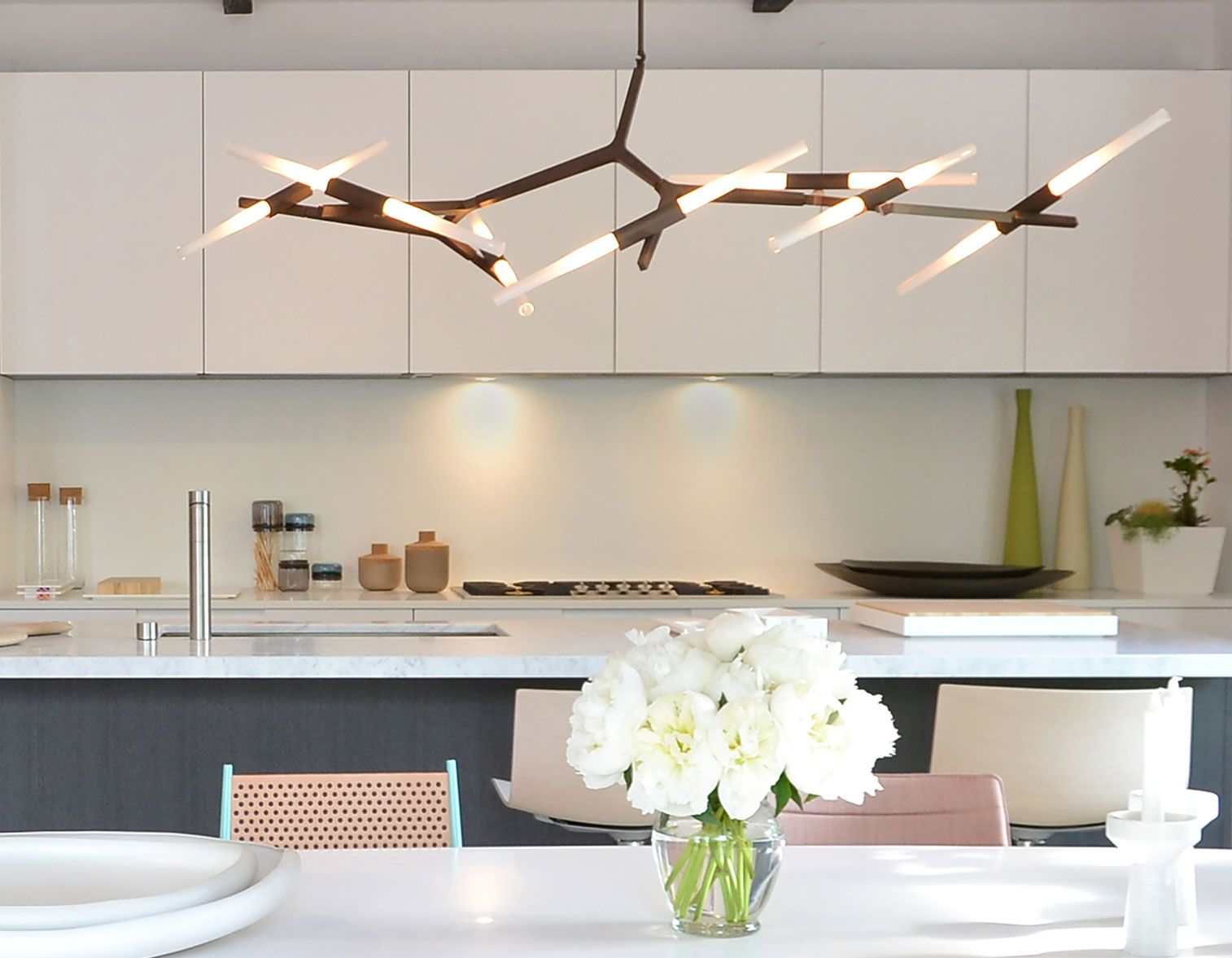 Interior lighting fixtures - Agnes Chandelier With 14 Bulbs In Bronze Shown At West Out East Retail Showroominterior Beach Lightinginterior