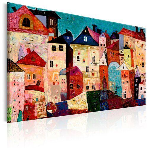 MalereiArtistic City auf Leinwand East Urban Home Größe: 80 cm H x 120 cm B x T