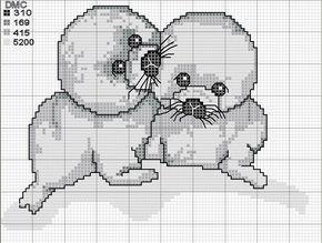 Schema punto croce Fochette